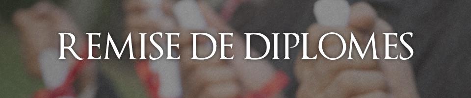 REMISE DES DIPLÔMES DE LA PROMOTION 2019 (PROMOTION JEAN-LOUIS FOURGOUX) ET PARRAINAGE DE LA PROMOTION 2020 PAR OLIVIER GUERIN